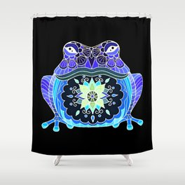 Psychedelic Toad Shower Curtain