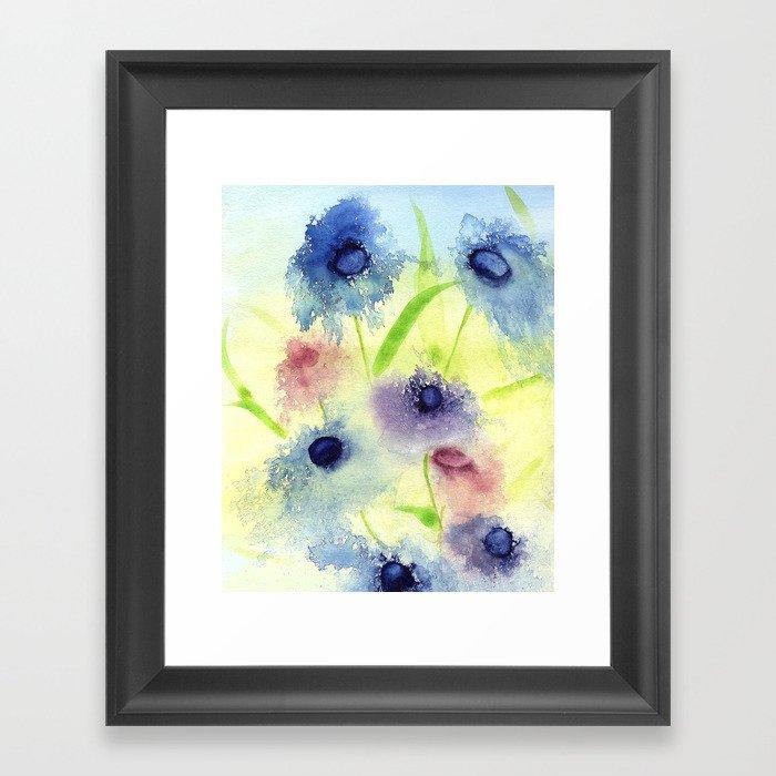 Spring Flowers in the Wind Framed Art Print