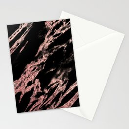 Darkness rose gold Stationery Cards