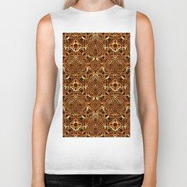Molten Gold Kaleidoscope Pattern Biker Tank