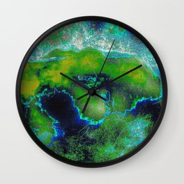 Cosmic Lime Wall Clock