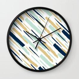Diagonal strokes Wall Clock