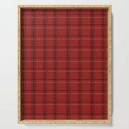 Red Tartan Serving Tray