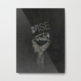 Rise Power Metal Print