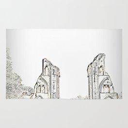 Glastonbury Abbey Rug