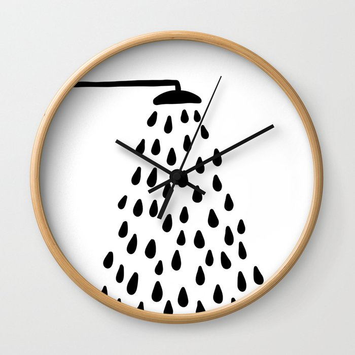 Shower in bathroom Wall Clock