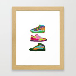 My Kicks Framed Art Print