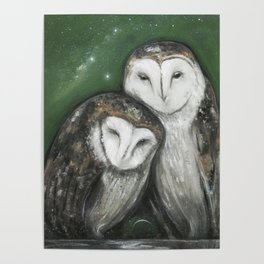 Soul Mates (Barn Owls) Poster