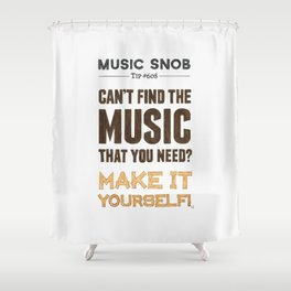 D. I. Y. — Music Snob Tip #608 Shower Curtain