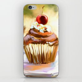 Cupcake with cherry iPhone Skin