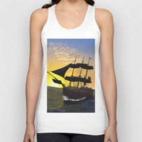 pirate ship Tank Tops featuring Pirate ship  by nicky2342