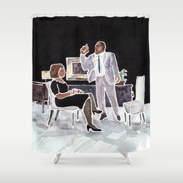 Men are too emotional. Shower Curtain