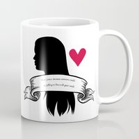 lydia martin Mugs featuring Lydia Martin by smartypants