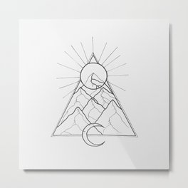 You're outta line Metal Print