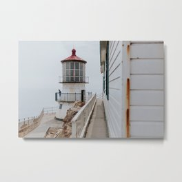 Point Reyes Lighthouse up close Metal Print