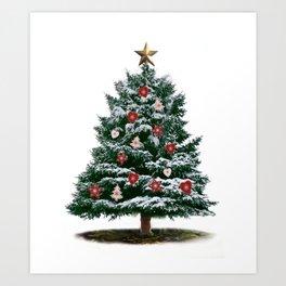 Christmas Tree by Chrissy Art Print