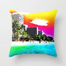 Waikiki Beach Part II Throw Pillow