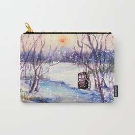 Tardis At The River Snow Carry-All Pouch