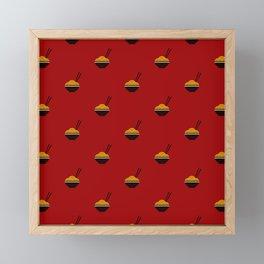Noodles Pattern Framed Mini Art Print