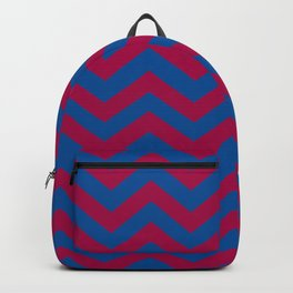 Chevron Pattern: Red & Blue Zig Zags Backpack