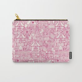 retro circus pink ivory Carry-All Pouch