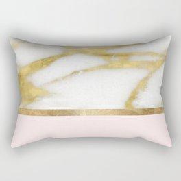Bari Peach Marble Rectangular Pillow