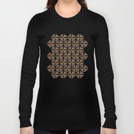 Rose Gold Watercolor Tile Long Sleeve T-shirt