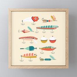 Fishing Lures Framed Mini Art Print