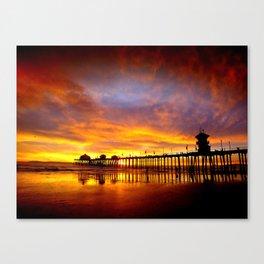 Orange Sunset California Canvas Print