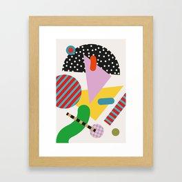 Modernist Scandinavian Geometric Framed Art Print