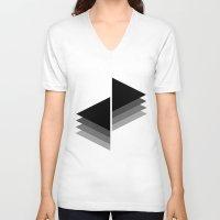 shadow V-neck T-shirts featuring Shadow by Shivani C
