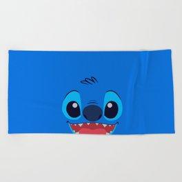 Stitch Cute Face Beach Towel