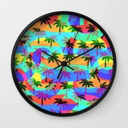 Tropical euphoria Wall Clock