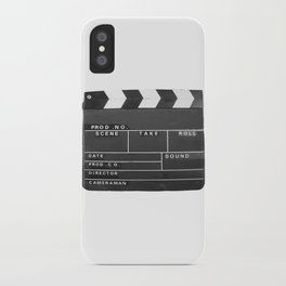 Film Movie Video production Clapper board iPhone Case