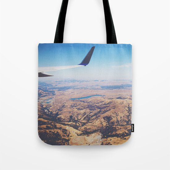 Flight Over California Tote Bag