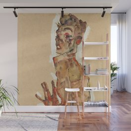 "Egon Schiele ""Self-Portrait with Splayed Fingers"" Wall Mural"