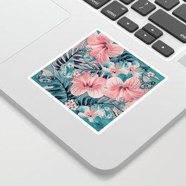 Vintage Jade Coral Aloha Sticker