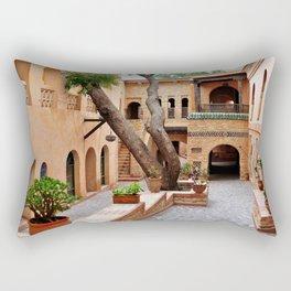 agadir medina courtyard Rectangular Pillow