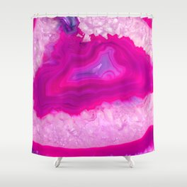 Pink ectoplasm agate Shower Curtain