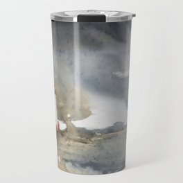 Storm over Crisp Point Lighthouse Travel Mug