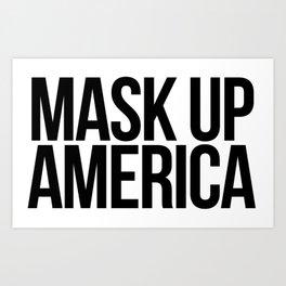 Mask Up America Art Print