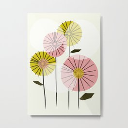 Abstract Summer Flowers Metal Print