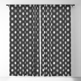 Monochrome Easter Geometry Blackout Curtain
