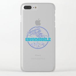Snowmobile Sled Winter Sports Gift Idea Brap Clear iPhone Case