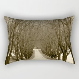Tree Lined Road Rectangular Pillow