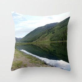 Symmetry and Serenity on Crystal Lake Throw Pillow
