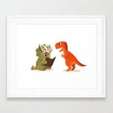 BOOK DINOSAURS 04 Framed Art Print