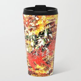 Golden Autumn Abstract Travel Mug