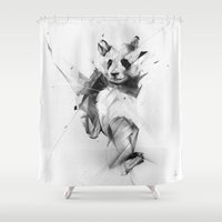panda Shower Curtains featuring Panda by Alexis Marcou