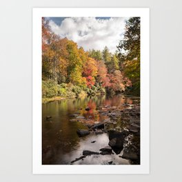 Linville River Art Print